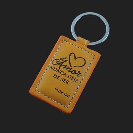 Graffiti leather keychains