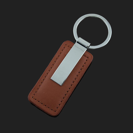 Rectangle leather keychains